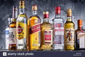 182214810 Bottles Poznan Alamy Global Mar Liquor - Hard Assorted 2018 Brands Stock Photo Poland 30 Of