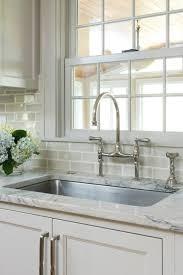 Exceptional Gray Subway Tile Backsplash   Transitional   Kitchen   Benjamin Moore  Revere Pewter   Pinney Designs