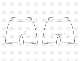 Shorts Design Template Shorts Template For Design Stock Vector Image