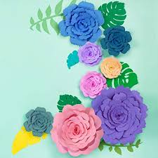 Peony Paper Flower Jetec 2 Sets Rose And Peony Paper Flower Template Kit Instruction Included Diy Your Own Wall Backdrop Decoration Photo Booth Paper Flower
