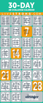30 Day Ab Challenges Skinnyjane