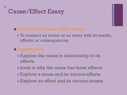 tuesday language arts cause and effect essay   cause effect essay purpose of a cause effect essay to connect an