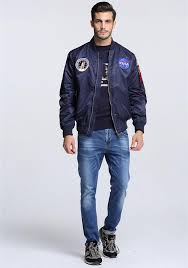men er flight pilot jacket coat thin nasa navy flying jacket military air force embroidery uniform army green black fleece jacket mens winter jackets