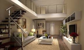 Modern Living And Dining Room Design Living Room Design With Stairs Home Design Ideas Modern Living