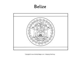 Small Picture Belize Flag Printables for Kids
