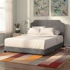 grey bed frame full. Fine Bed Kyara Upholstered Panel Bed Throughout Grey Frame Full