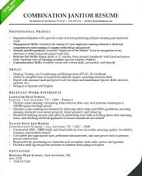 Combination Resume Templates Delectable Download Janitorial Business Resume Template Vilanovaformulateam
