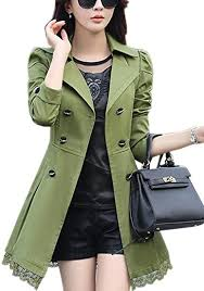 GFIONG Womens <b>Double</b>-<b>Breasted</b> Bowknot Long Trench Coat with ...