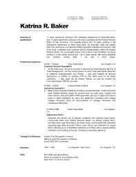 Katrina Baker's Resume 2. 321 West 120TH Street Los Angeles, CA 90061 Phone  0310-986-5478 kbaker ...