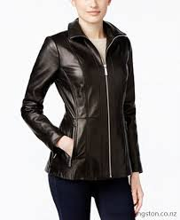 michael michael kors leather zip front jacket only at macys women fwqr509