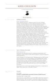 Resume Template Software Architect Resume Examples Free Career