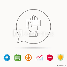 Download Palm Chart Cheque Icon Giving Hand Sign Paying Check In Palm Symbol
