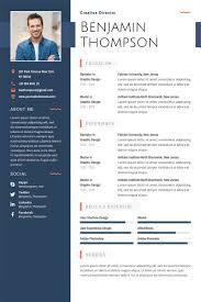 Resume Templates Free Download Creative Professional Resume Template Vector Free Download 1024 Mychjp