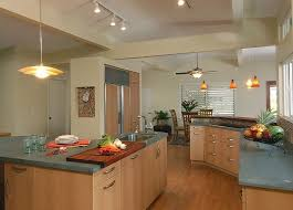 board plans contemporary kitchen with green countertops
