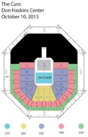 Don Haskins Center El Paso Seating Chart The Cure October 10 2013 Utep Office Of Special Events