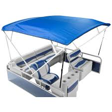 economy bimini top shown with deckmate classic seats