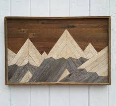 reclaimed lath wall. past reclaimed wood wall art mountain range lath by pastreclaimed