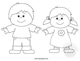 Bambini Felici Da Colorare Tuttodisegnicom
