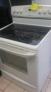 kenmore stove top. kenmore white glass top stove 5 burner w