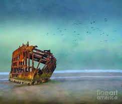 The Peter Iredale Digital Art by Janine Smith