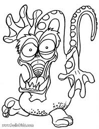Small Picture Halloween Monsters Coloring Pages Festival Collections