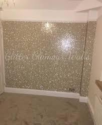 champagne glitter wallpaper bedroom