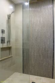 master shower design beige wall tile with gray glass mosaic ideas