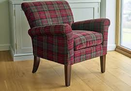 claret plaid gfa blenheim accent chair