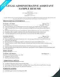 Objective For Legal Assistant Resume. Legal Administrative Assistant ...