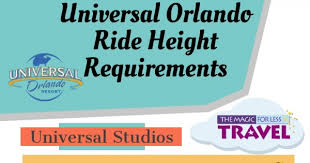 Universal Studios Height Chart Universal Ride Height Requirements At The Universal Orlando