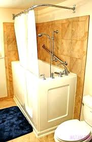 walk in tub with shower enclosure walk in shower with tub handicap walk in showers image walk in tub