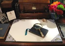 an open design desk blotter from our bindery parvum opus