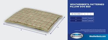 Weatherbeeta Dog Bed Size Charts