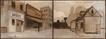 old western town layouts by arnjeca