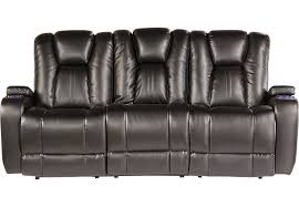 black recliner couch.  Black With Black Recliner Couch