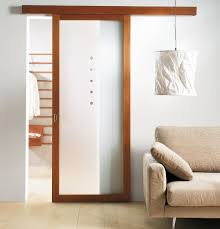 lovely design of the sliding interior doors with brown wooden and glass materials ideas with grey