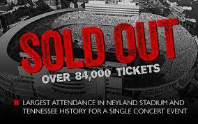 Neyland Stadium Garth Brooks Seating Chart Garth Brooks