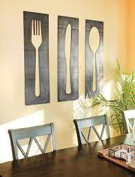 fork knife spoon wall art panel set
