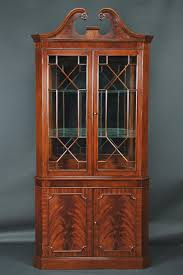 High End China Cabinets Corner Curio Cabinet Canada High End Mahogany Corner China Cabinet