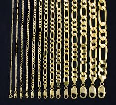 Gold Chain Width Size Chart