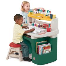 com step2 art master activity desk for toddlers kids learning crafts table with chair and storage multicolor toys