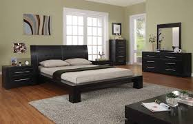 Solid Wood Contemporary Bedroom Furniture Bedroom King Size Brown Modern Stained Solid Wood Captains Bed