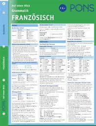 Pons Grammatik Auf Einen Blick Franz Sisch Kompakte Bersicht