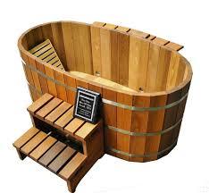 Wooden Bathtub Ofuro Japanese Soaking Hot Tub 2 Person Wooden Tub Pool Spa