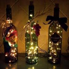 Empty Wine Bottle Christmas Decorations Very Cool Tips n' Trix Pinterest Bottle lights Bottle and Wine 2