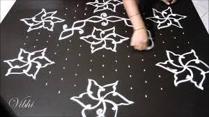 Simple Rangoli Designs With Dots 15 8 Simple Flower Kolam 15 To 8 Dots By Vibhisha Kolam