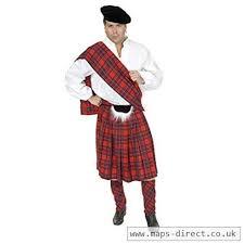 Charades Costume Size Chart Charades Adult 3xl 56 60 Red Scottish Kilt Highlander