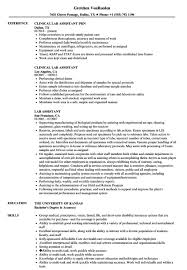 Lab Assistant Resume Suitable Print Besides Sample Laurelsimpson Com