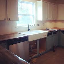 installing the ikea farm sink and butcher block