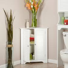 RiverRidge Ellsworth 3 Shelf Corner Cabinet White Walmart